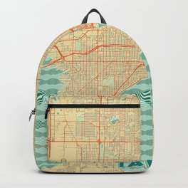 Tampa Map Retro Backpack