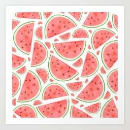 Watercolour Watermelon Art Print