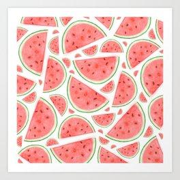 Watercolour Watermelon Art Print
