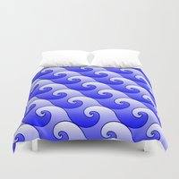 surf Duvet Covers featuring Surf by Harvey Warwick