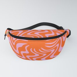 70s Retro Pink Orange Abstract Fanny Pack