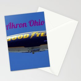 Akron Ohio Blimp Stationery Cards
