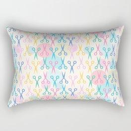 Hair Scissors Pastel Pattern Rectangular Pillow