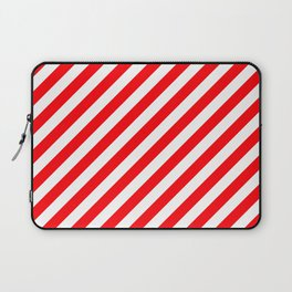 Christmas Red and White Candy Cane Stripes Laptop Sleeve