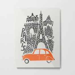 Paris Cityscape Metal Print