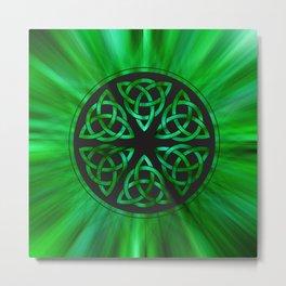 Celtic Knot Star Flower Metal Print