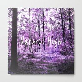 Natural High (purple) Metal Print