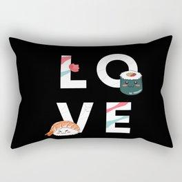 I love sushi and japan, anime Rectangular Pillow