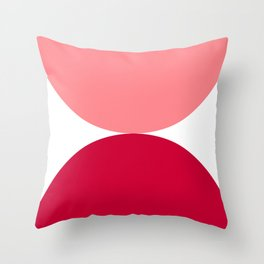 narcissus, geometric, modern, simple, colorful, pink, red, Throw Pillow