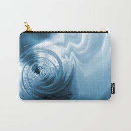Blue Liquid Water Whirlpool Abstract Graphic Carry-All Pouch