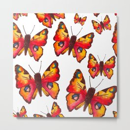 Peacock Butterflies Metal Print