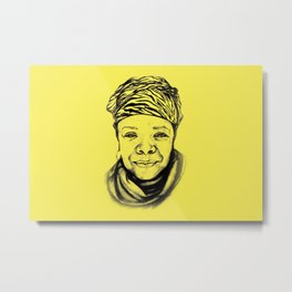 Maya Angelou - (yellow) Sketch to Digital Metal Print