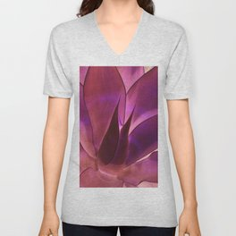 Purple Agave Unisex V-Neck