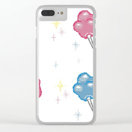 Cotton Candy Clouds Clear iPhone Case