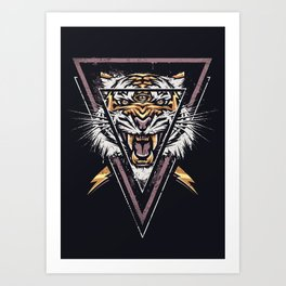 Thee-eyed Tiger Art Print