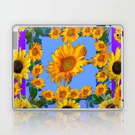 PURPLE YELLOW SUNFLOWERS STORY BOOK MODERN ART Laptop & iPad Skin