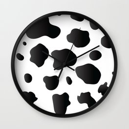 Halloween School Cow Day Spots Wild Animal Costume Gift Wall Clock