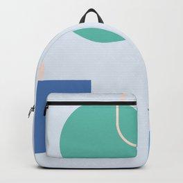 Strange feeling on blue background Backpack