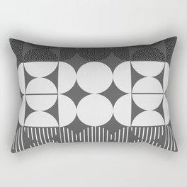 Minimal monochrome Rectangular Pillow
