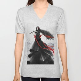 Playing the Violin Unisex V-Neck