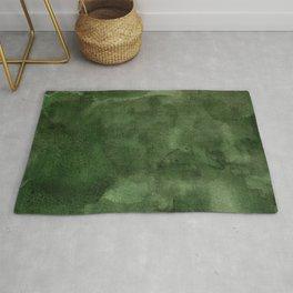 Green Watercolor Texture Rug