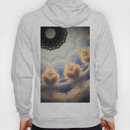 Cloud Hearts Abstract Artwork Hoody
