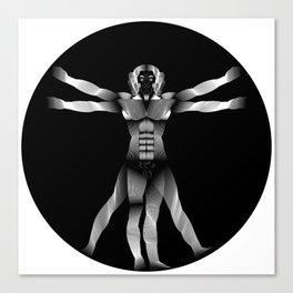 Vitruvian Man Lines by Leonardo Da Vinci Canvas Print