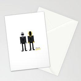 Pixel Daft Punk Stationery Cards