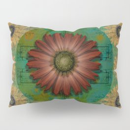 """Daisy Woman (Red Daisy, pattern)"" Pillow Sham"