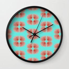 Shell Tie Dye Wall Clock