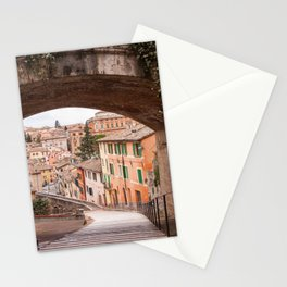 View of a 13th century acqueduct in Perugia, Umbria, Italy. Stationery Cards