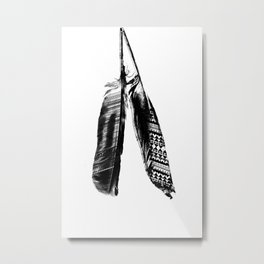Tribal Feather Pair Metal Print