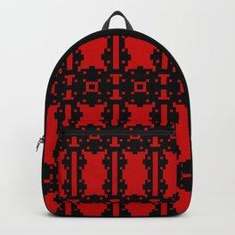 REBEL black and red bold pattern design Backpack