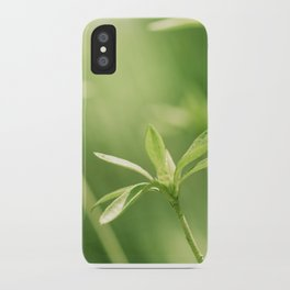 Green Nature Photography, Green Leaves Botanical Art Photo, Colorful Modern Print iPhone Case