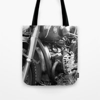 motorcycle Tote Bags featuring motorcycle by Falko Follert Art-FF77