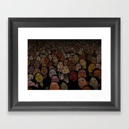 Dark Faces Framed Art Print