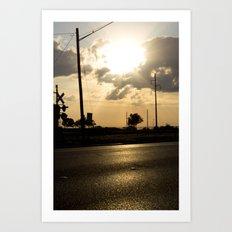 the road ahead. Art Print