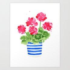 Potted Geranium no. 1 Art Print