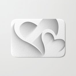 Hearts - valentines and love hearts Bath Mat