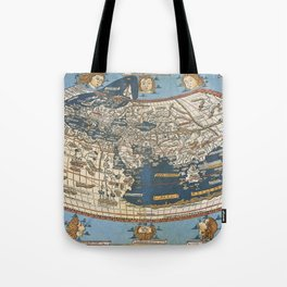 World map 1492 Tote Bag