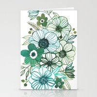 oana befort Stationery Cards featuring FLORALS by Oana Befort