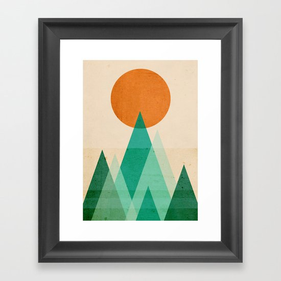 No mountains high enough Framed Art Print