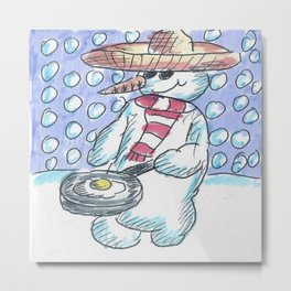 Christmas #6 Snow Mexican Frying An Egg Metal Print