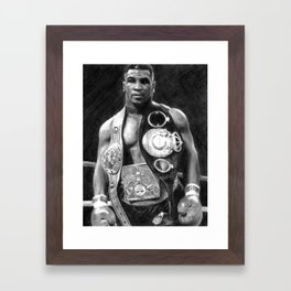 Mike Tyson Pencil Drawing Framed Art Print