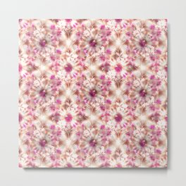 kaleidoscopic background.White and red colors Metal Print
