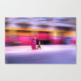 In Sync in Senegal Canvas Print