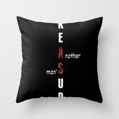 BWR No. 2 Treasure (black) Throw Pillow