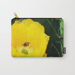 Cactus Flower, Bee and Grasshopper Carry-All Pouch