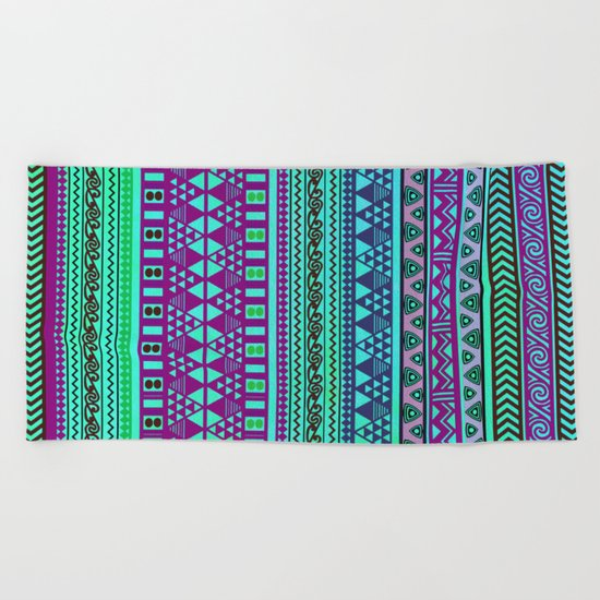 Inspired Aztec Pattern 4 Beach Towel