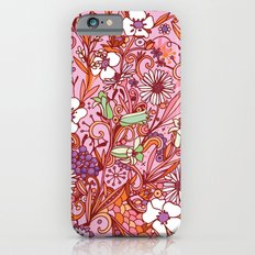 Daisy and Bellflower pattern, pink iPhone 6s Slim Case
